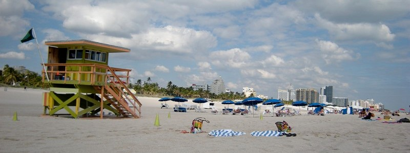 Beach hut Miami Florida