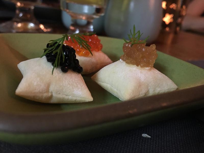 Twins restaurant caviar