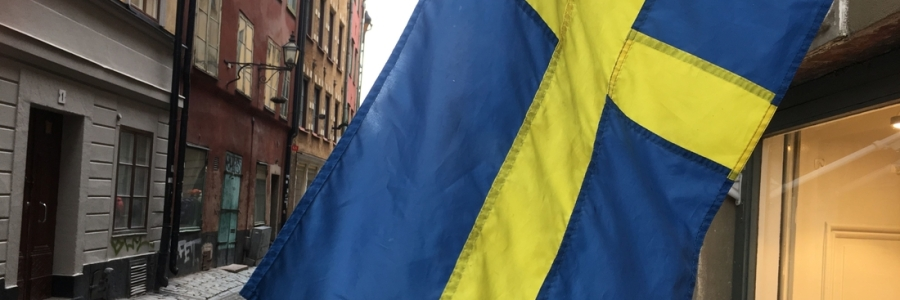 Stockholm Swedish flag