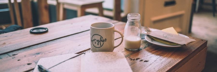 Table notebook mug
